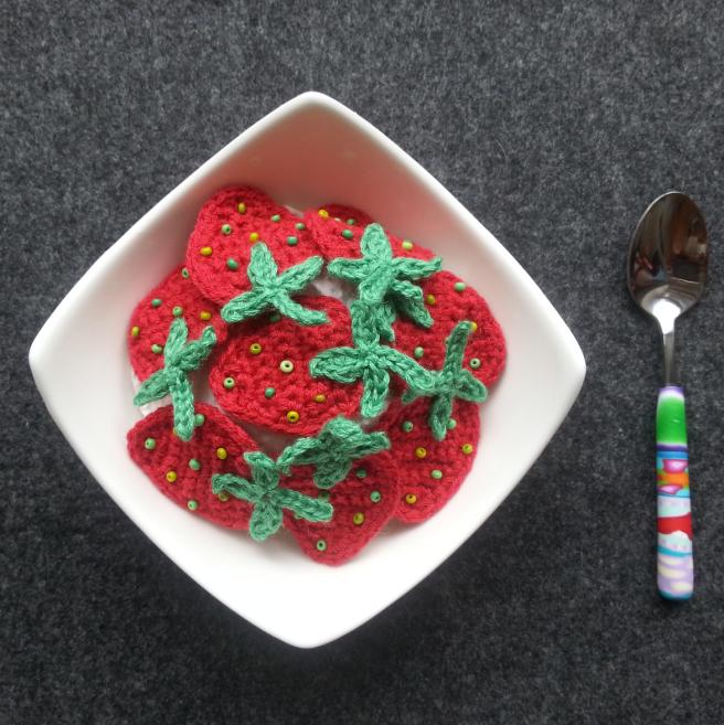 Schüssel mit Erdbeeren
