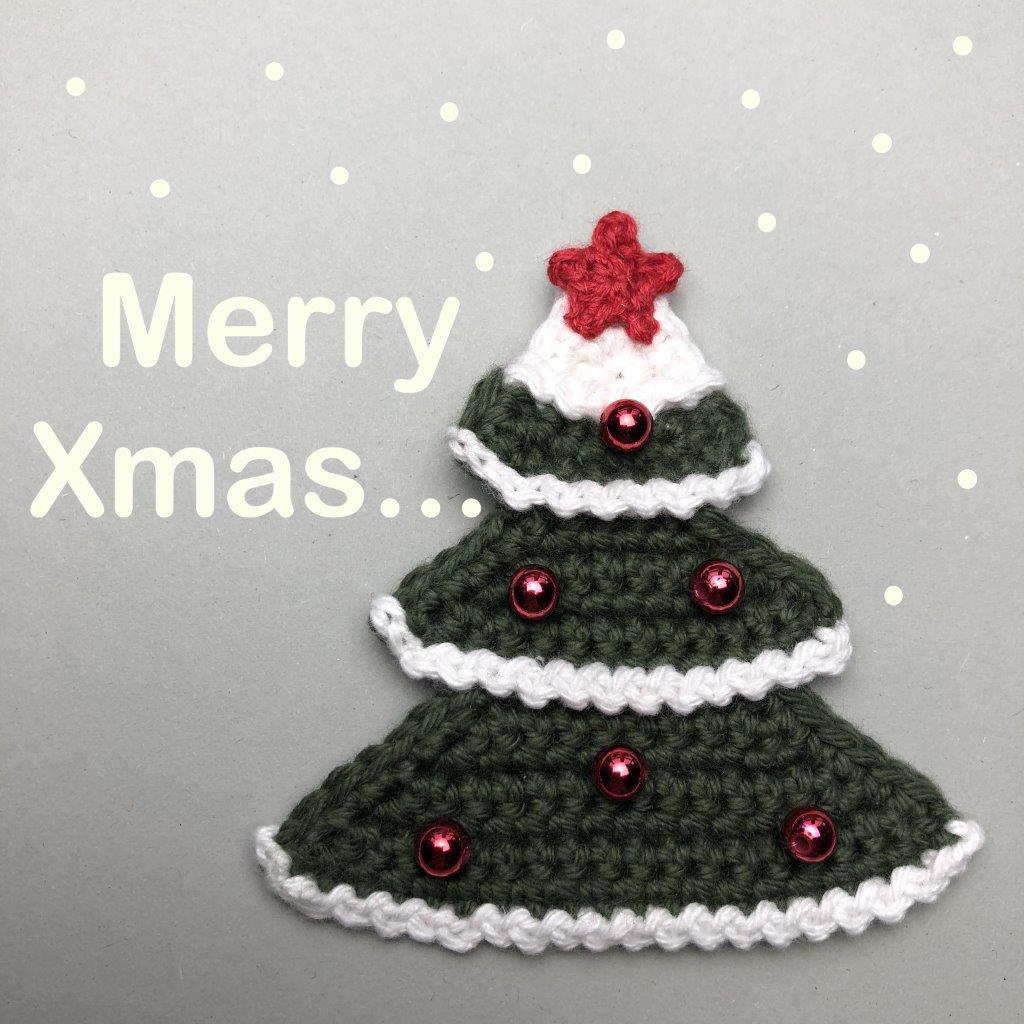 Weihnachtsbaum Xmas mit Schneeflocken